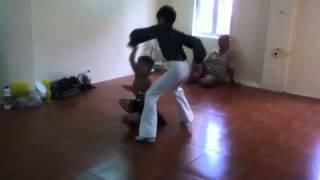Đăng Quân- Bảo Ngọc trong phòng luyện tập dance sport. Vietnam's Got Talent.