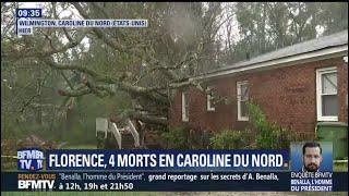 L'ouragan Florence, rétrogradé en tempête tropicale, a fait au moins 4 morts en Caroline du Nord