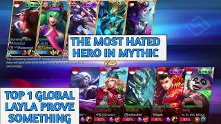 LAYLA IN MYTHIC 😮 | TOP 1 GLOBAL LAYLA | MOBILE LEGENDS