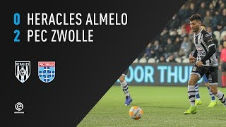 Heracles Almelo - PEC Zwolle | 26-01-2019 | Samenvatting