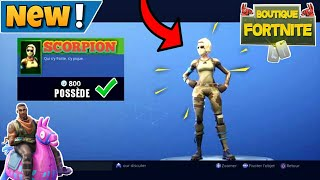 I buy The New Skin Scorpion On Fortnite