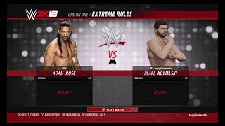 Killer Kowalski Jr  Vs  Adam Rose in Fall count anywhere at WWE RoadBlock WWE 2K16