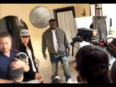 Justin Bebier behind the scenes. Puppy pees on Justin Bieber's shoes- animal handler Abe Ward