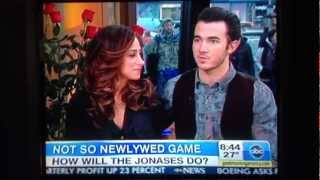 Kevin and Danielle Jonas on Good Morning America 2013