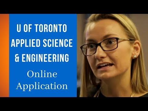 Online Application | University of Toronto Applied Science & Engineering