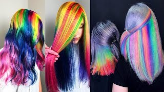 Best Hair Color Transformation. Rainbow Hair TutorialsCompilations