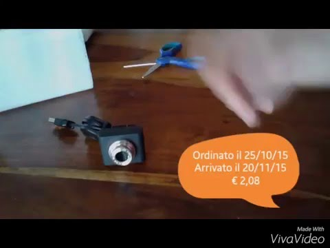 Mini-webcam per pc da Aliexpress