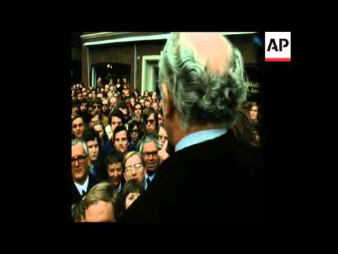 SYND 29-10-72 WEST GERMAN FOREIGN MINISTER, WALTER SCHEEL, ADDRESSES FDP RALLY
