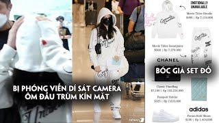 Jennie ôm đầu khi bị phóng viến dí sát camera,bóc giá set đồ sân bay không hề rẻ của Jennie