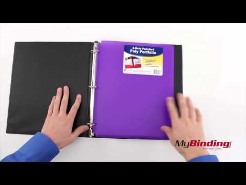 C-Line Two-Pocket Poly Portfolio Folder with Three-Hole Punch
