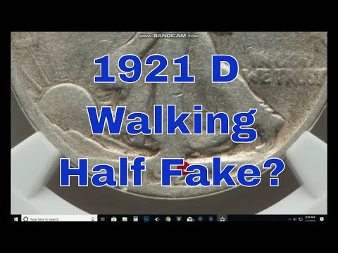 Counterfeit Walking Liberty Half Dollars 1921 D Walking Half Dollar Fakes