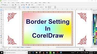 Learn CorelDraw in hindi tutorial 20 contour tool & make border in coreldraw