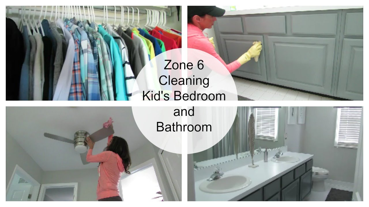 Bathroom Zone 3 clean with me | kids' bedrooms and bathroom zone cleaning routine