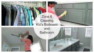 Clean with Me | Kids' Bedrooms and Bathroom Zone Cleaning Routine