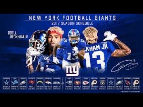 new york giants 2017 2018 schedule prediction youtube