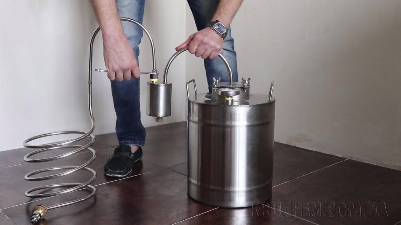 Самогонный аппарат непроточный видео мини пивоварня электрическая