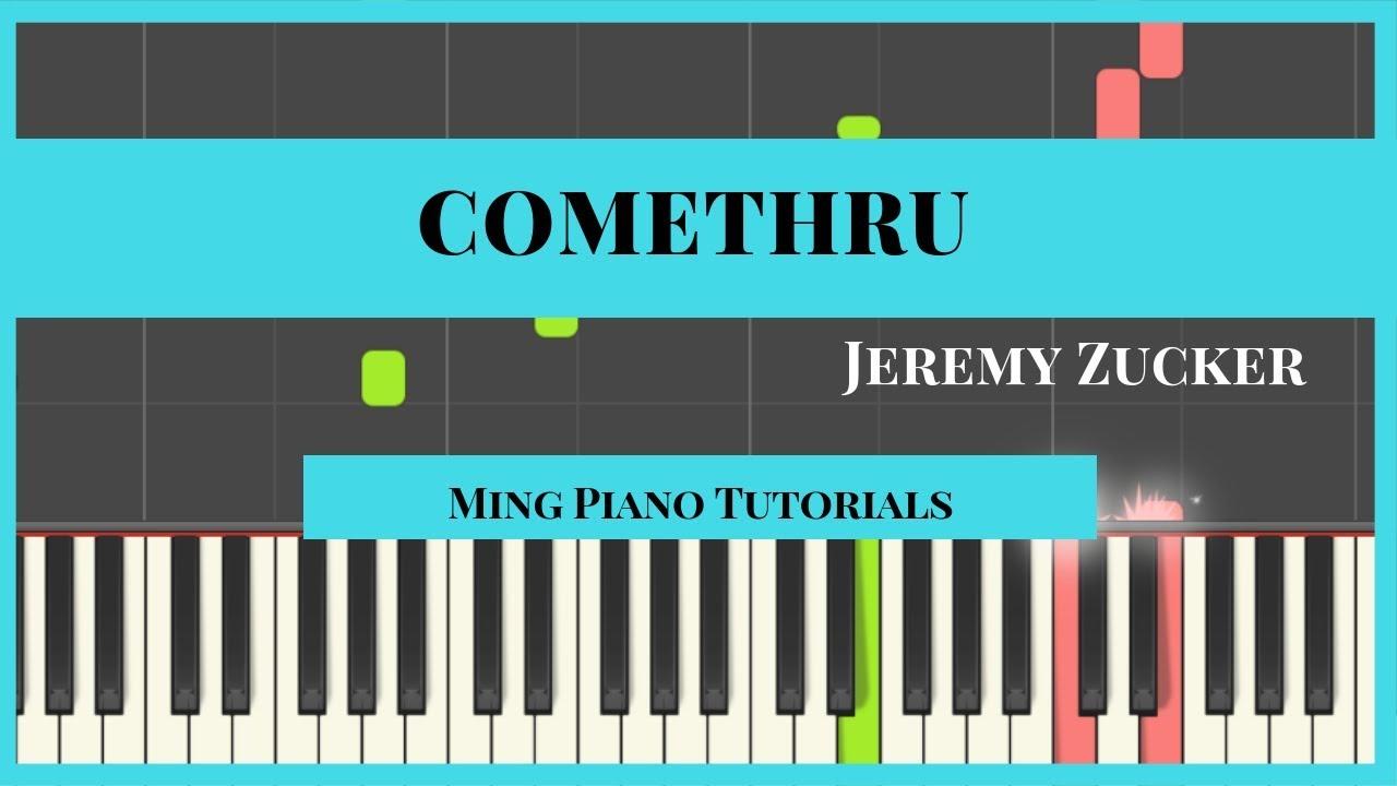 Comethru - Jeremy Zucker Piano Cover Tutorial (Midi Sheets) Ming Piano  Tutorial