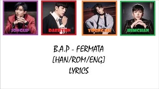 B A P Fermata HAN ROM ENG COLOR CODED LYRICS