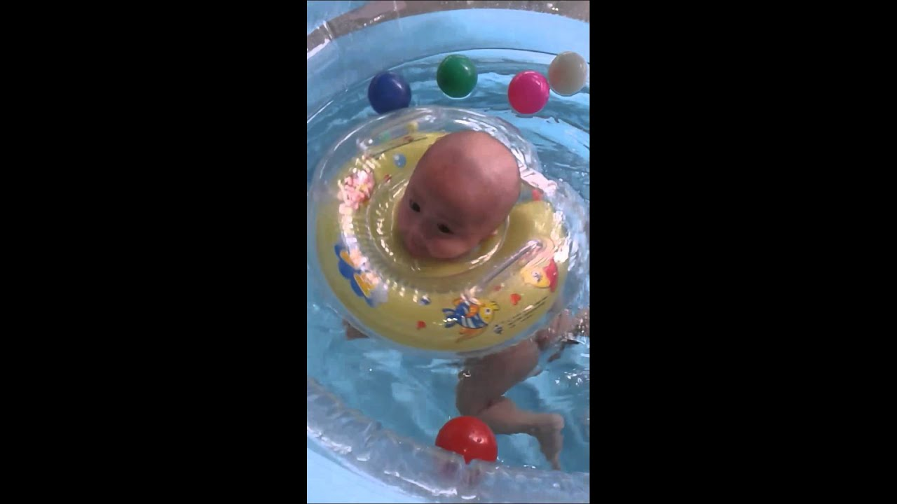 Baby Swimming At Home Baby Spa Baby Pool 3 Month Old Youtube: 3 month old baby swimming pool
