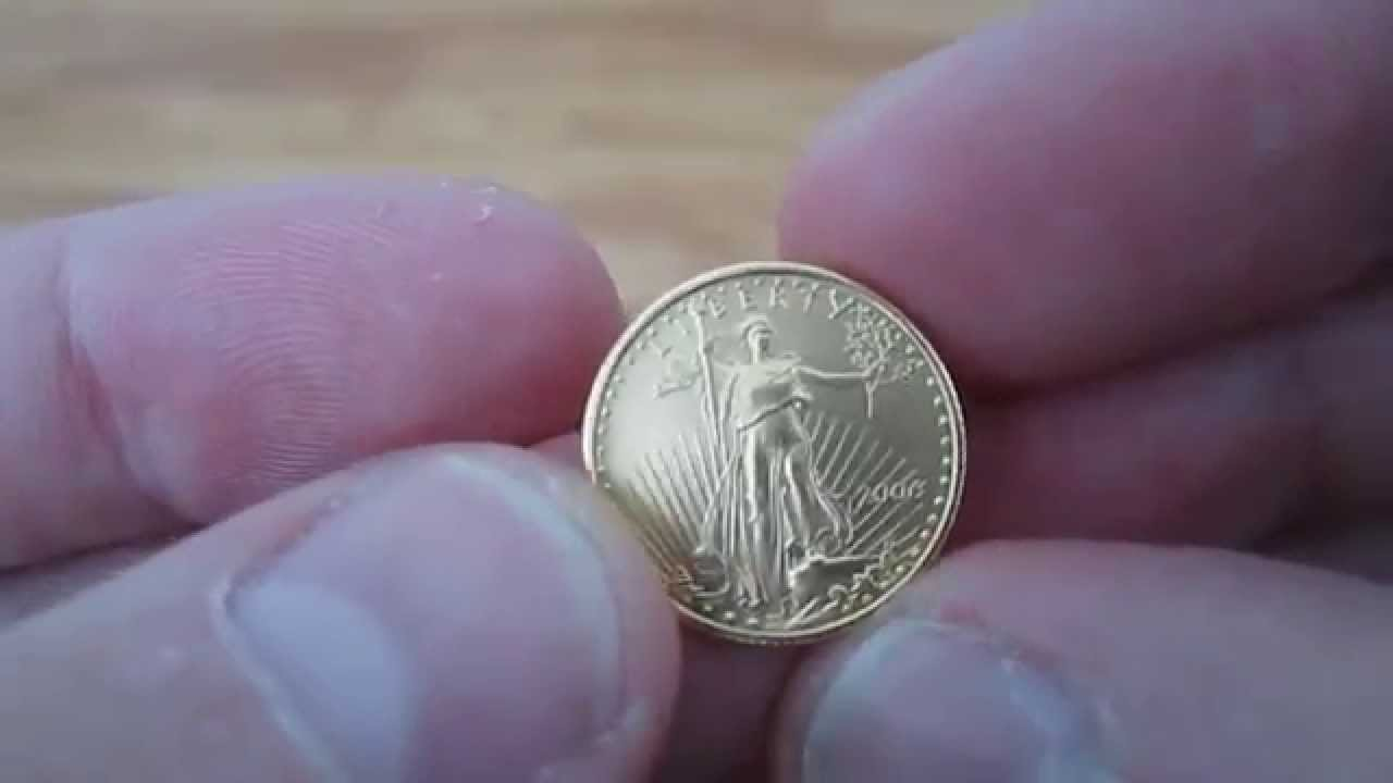 1 10 Oz Gold American Eagle Youtube