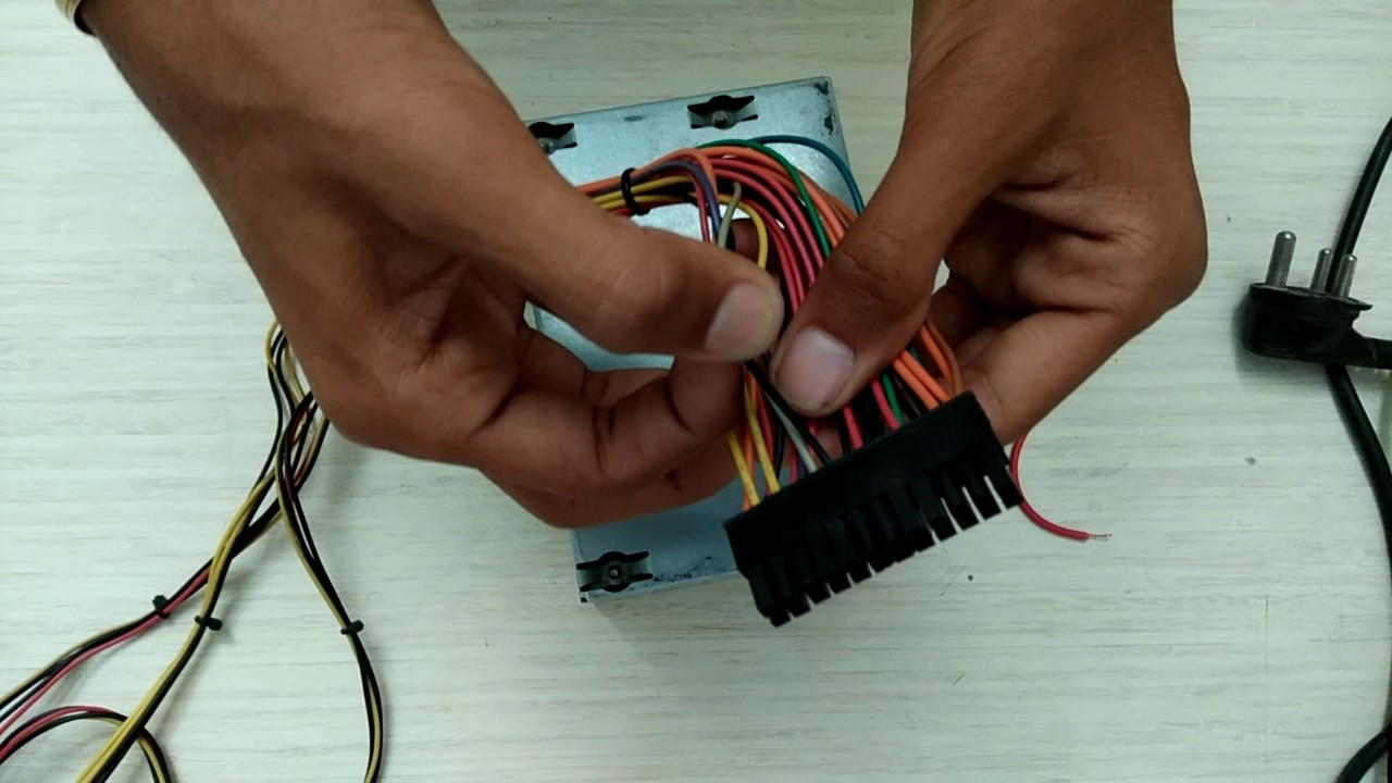 SMPS - Wire Color Coding & Testing - YouTube