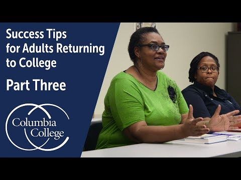 Success Tips for Adults Returning to College - Part Three - YouTube