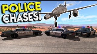 EXTREME POLICE CHASES & ROADBLOCK CRASHES! - BeamNG Drive Gameplay & Crashes - Police Roadblock