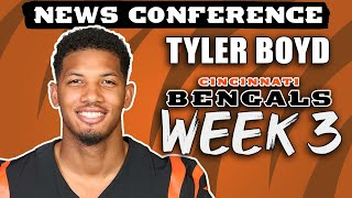 Tyler Boyd on Week 3 Against Pittsburgh Steelers | Bengals News Conference