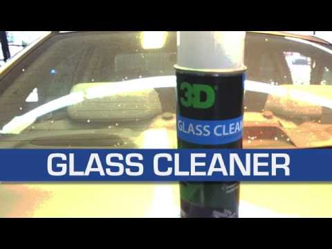 3D Products Glass Cleaner Aerosol Spray