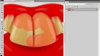 Коррекция цвета зубов в Photoshop (23/40)