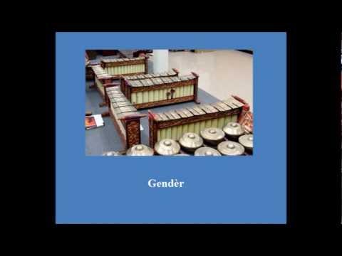 Gamelan Musical Instruments and Interlocking Rhythm