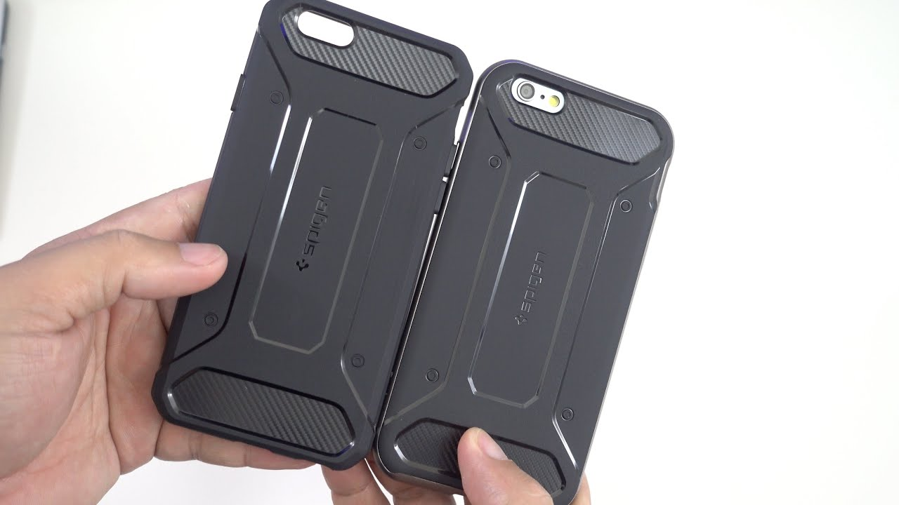 cheap for discount b1e2c fcfeb Spigen Rugged Capsule & Neo Hybrid Carbon Cases for the iPhone 6s