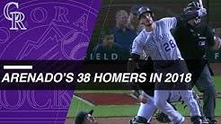 Check out all 38 of Nolan Arenado's home runs in 2018