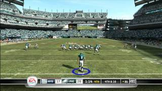 CGRgameplay - MADDEN NFL 11 (XBOX 360) Eagles Vs. Giants Gameplay Part 6