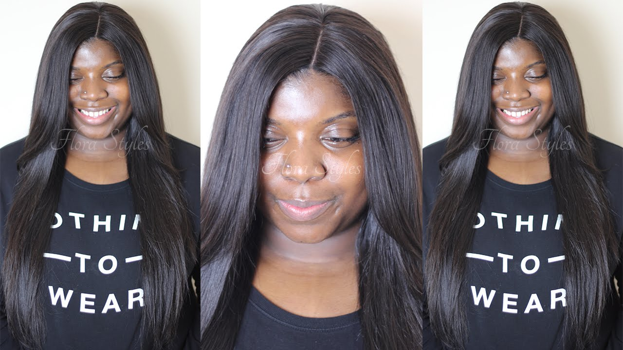 Middle Part Sew In Straight Hair Hairstyle Inspirations 2018