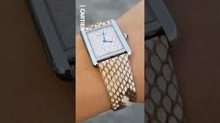 [세로영상] Cartier 까르띠에 탱크 솔로 여성시계…