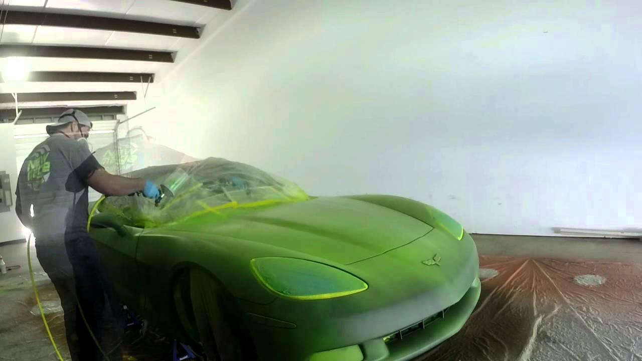 Electric Lime Green Plasti Dip C6 Corvette