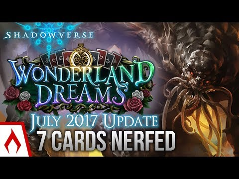 [Shadowverse] 7 CARDS NERFED! July 2017 Balance Changes