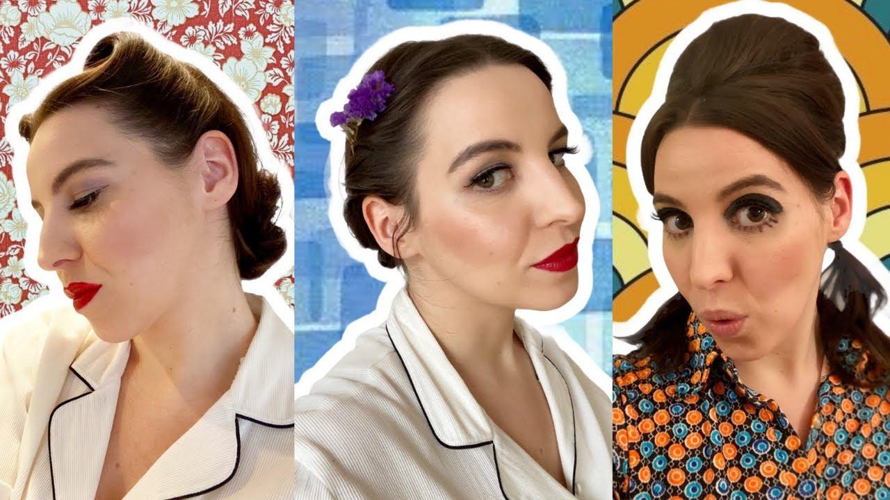 Trois coiffures VINTAGE faciles (40's, 50's, 60's)