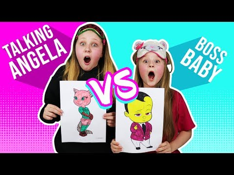 3 MARKER CHALLENGE with Talking Angela!!