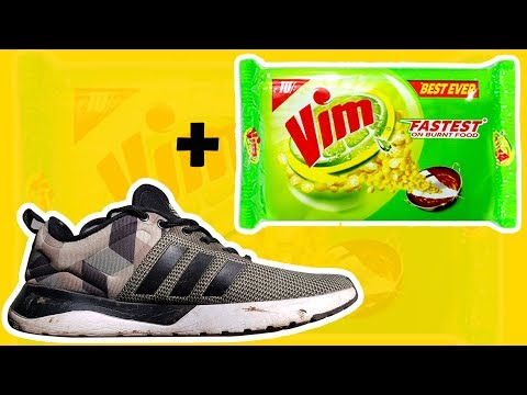 How to clean shoes with Vim Bar    fast and easy