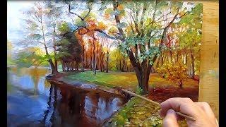 Живопись маслом.Осенний пейзаж