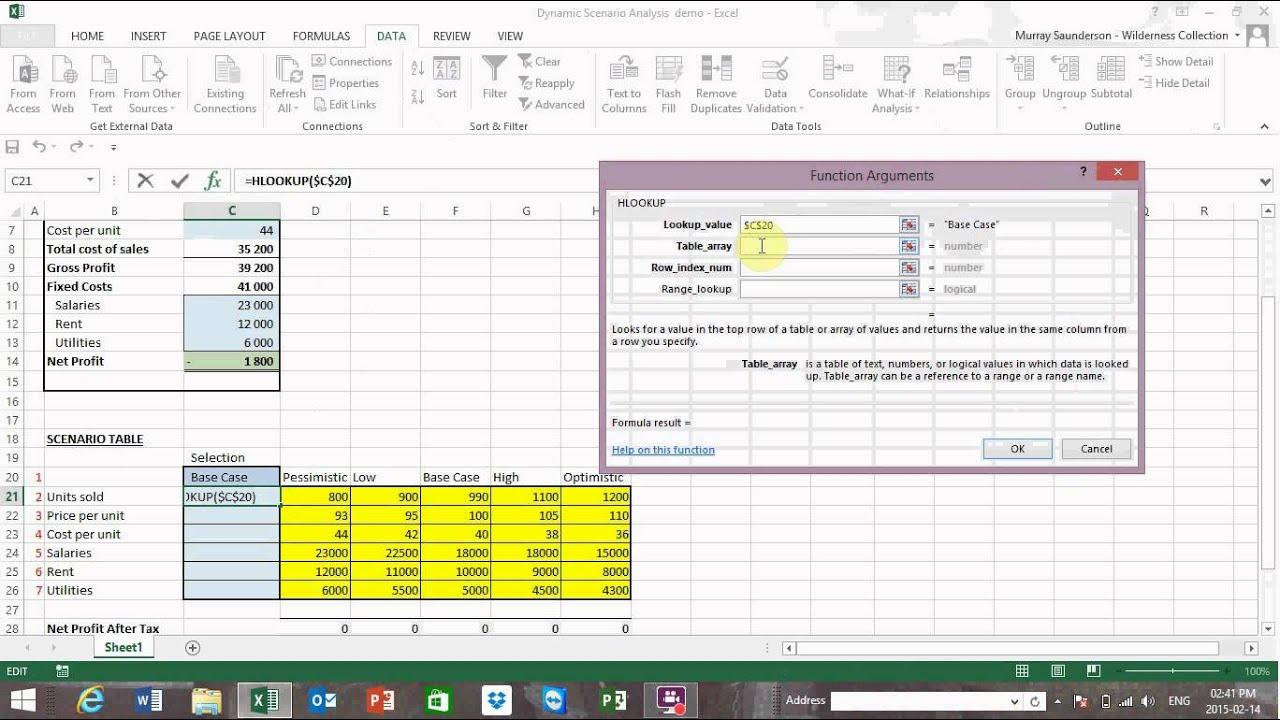 Dynamic Scenario Analysis for Excel - YouTube