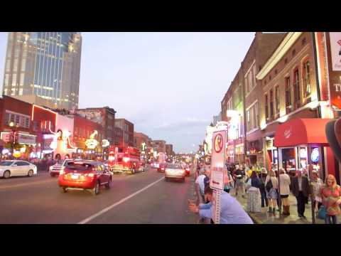 Nashville, Tennessee - Broadway at night