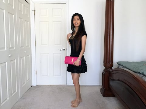 Saint Laurent (YSL) Cassandre Clutch 2015 Bubble Gum Pink Unboxing ...