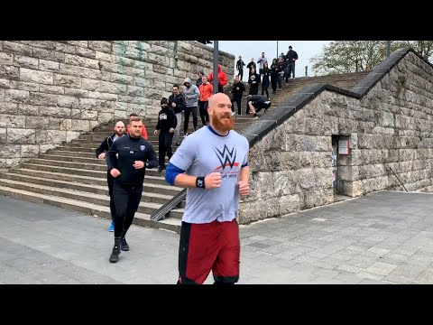The WWE tryout camp runs through Cologne, Germany