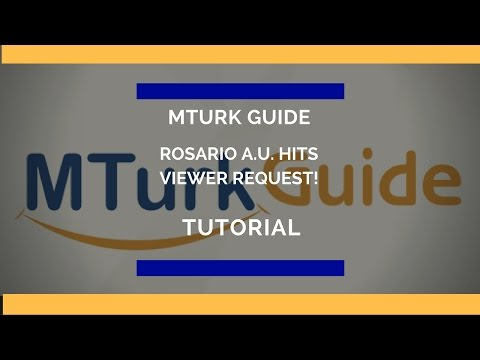 MTurk Guide Tutorial - Image Tag Selection - Rosario A.U.