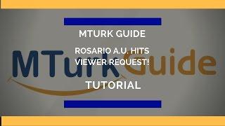 MTurk دليل تعليمي - صورة اختيار الوسم - روساريو A. U.