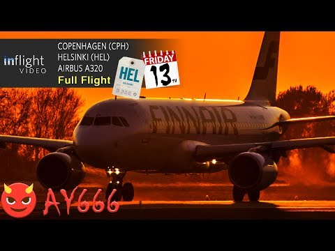 Finnair Full Flight | Flight 666 to HEL on Friday 13th! | Copenhagen to Helsinki (with ATC)