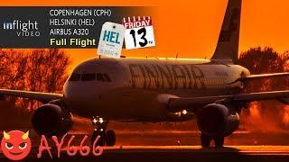 Finnair Full Flight | Flight 666 to HEL on Friday 13th! | Copenhagen to Helsinki (with ATC)